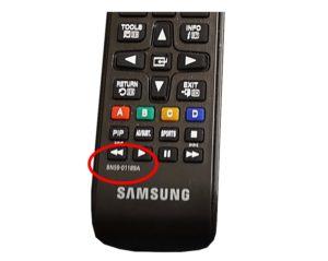 Samsung Fernbedienung mit markierter Modelnummer